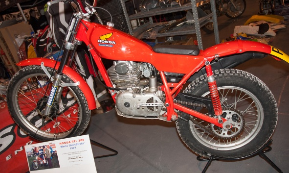 Honda RTL300 - Short-Stroke from 1977 - Photo copyright: Heath Brindley, England