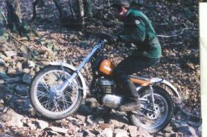 The first Factory Trial motorcycle in 1972