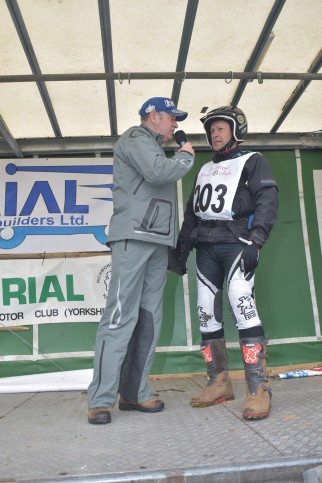John Moffat and 3 times World FIM Trials Champion Yrjo Vesterinen - Photo courtesy and copyright: Barry Robinson, Ilkley.