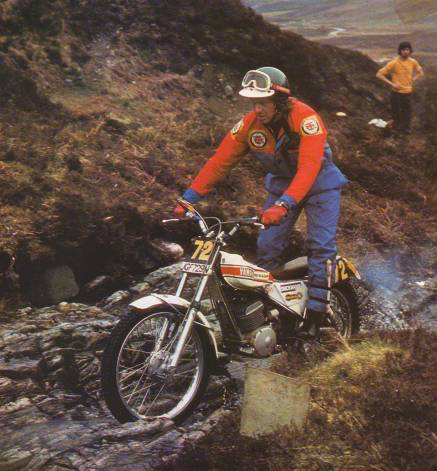1975 SSDT, Mick Andrews on his way to another win for Yamaha. The machine was JGF759N. Photo: Yamaha Motor Co.