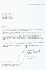 Letter - Javier Burgos - 1972-08-03