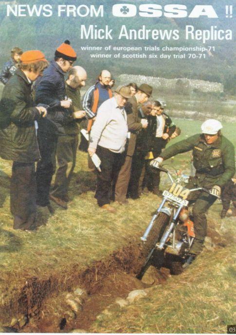 Ossa 1972 Brochure front