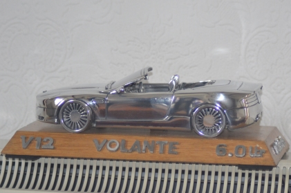 Another of Rob's creations is this model, again made from aluminium off-cuts of an Aston Martin V12 Volante