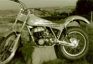 One of the factory prototypes that Barry has swung his leg over - Malcolm Rathmell's Montesa 349. (Photo Copyright: Barry Robinson)