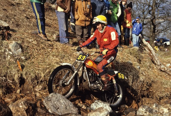 Happier times, an eric Kitchen photo of Rob Edwards in the 1979 Scottish on his Montesa Cota 349. (Photo Copyright - Eric Kitchen)