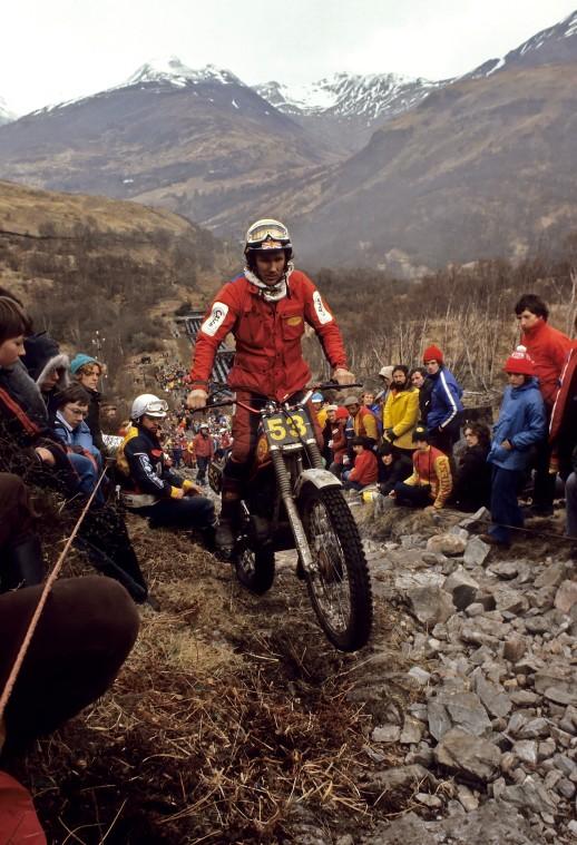 1979 - Scottish Six Days. Rob was 18th on 167 marks. Photo Copyright: Eric Kitchen.
