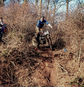 Guisborough - Tocketts Mill trial on a borrowed Triumph Cub. Photo Courtesy: Neil Sturgeon, Darlington