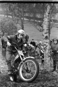 Malcolm Rathmell in the 1975 Jack Leslie Ellis Trial on the prototype 348 Montesa. Photo copyright: Barry Robinson.