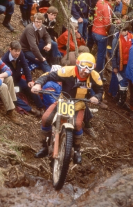 Rob Edwards in his final SSDT in 1981 on Muirshearlich, near Banavie. The section is know known as Trotters' Burn. Photo copyright: Iain Lawrie, Kinlochleven.
