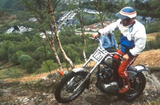 Rob on his 400cc Triumph in the Pre'65 Scottish in 1993. Photo copyright: Iain Lawrie, Kinlochleven