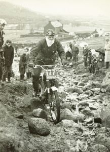 Ron Thomson in 1964 at Achintee Farm on his 500cc BSA Gold Star. Photo Courtesy Mrs Ron Thomson, Fort William.