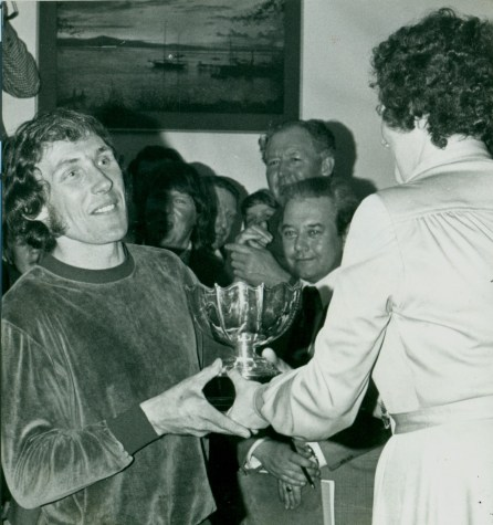 1978 - Rob receives his award at the Scottish Six Days. He came second to Martin Lampkin. Photo Copyright: Mike Rapley