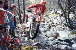 One of the first images we used when Trials Guru was a fledgling facebook page. Jordi Tarres (Beta) at the World Trials Championship round at Glen Nevis, Scotland in 1992. Photo: Iain Lawrie, kinlochleven.