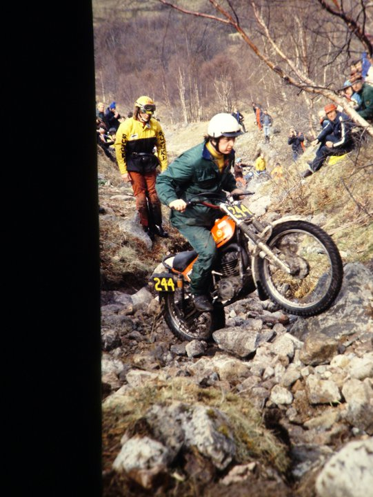 Chris Clarke from Sheffield in the 1979 Scottish Six Days on his 348 Montesa -© - Jimmy Young, Armadale.