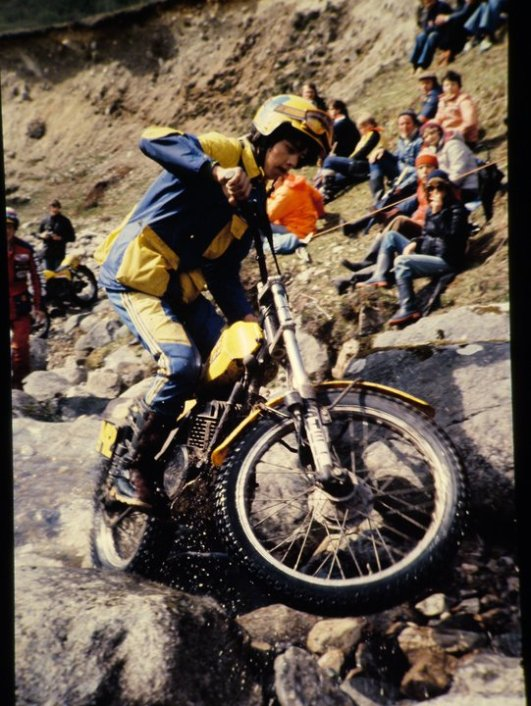 John Lampkin in the 1981 Scottish Six Days at Lagnaha on the 280 SWM. - © - Jimmy Young, Armadale.