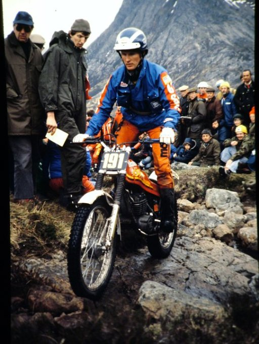 Lane Leavitt, California/USA (349 Montesa) at the 1980 Scottish Six Days on Altnafeadh. - © - Jimmy Young, Armadale.