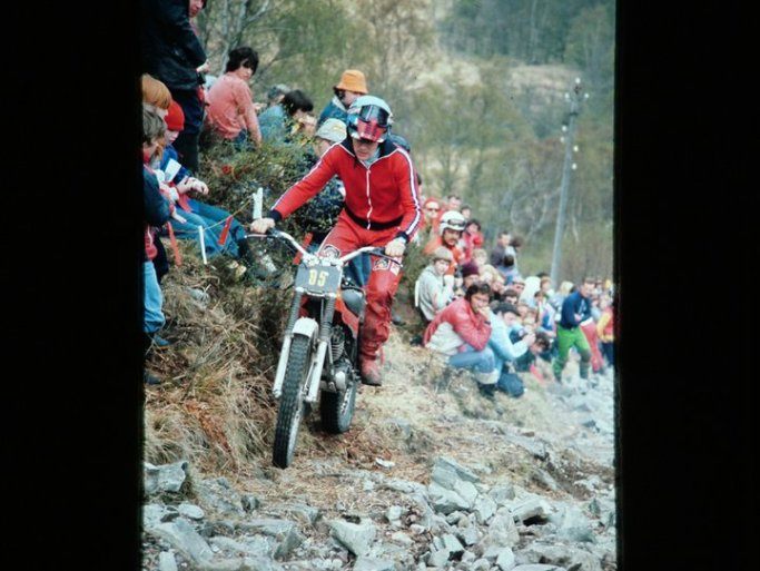 Miquel Cirera (348 Montesa) on Pipleine in the 1978 Scottish Six Days - © – Jimmy Young, Armadale.