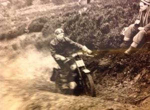 On the 197 OEC, Derek's first trials bike