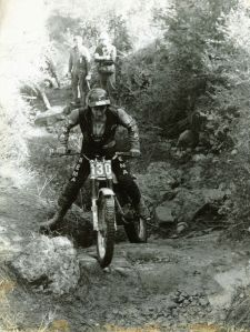 Rob Edwards on a 348 Montesa - Santigosa Three Day Trial 1977. Photo: Rob Edwards Private Collection