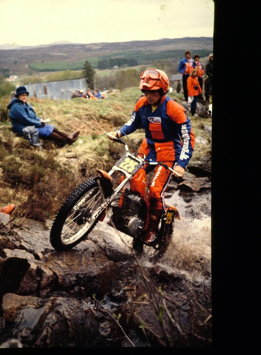 Rob Shepherd on the factory 359cc Honda RTL360 in the 1980 Scottish Six Days - © - Jimmy Young, Armadale.