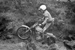 1979 - Valente Trial - Johnny Davies on his self-built Kawasaki 250 Four-Stroke - Photo: Jim Young, Armadale.