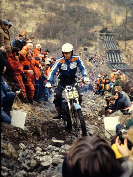 1979 Scottish Six Days - Yrjo Vesterinen ( 325 Bultaco) on Pipeline. © - Jimmy Young, Armadale.