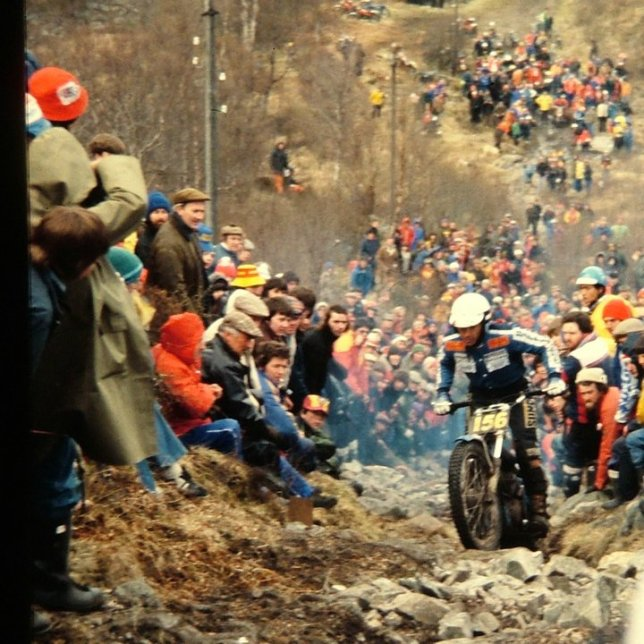 Yrjo Vesterinen (326 Bultaco) on Pipeline in the 198X Scottish Six Days - © – Jimmy Young, Armadale.
