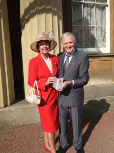 Sammy Miller MBE and his wife, Rosemary. Photo