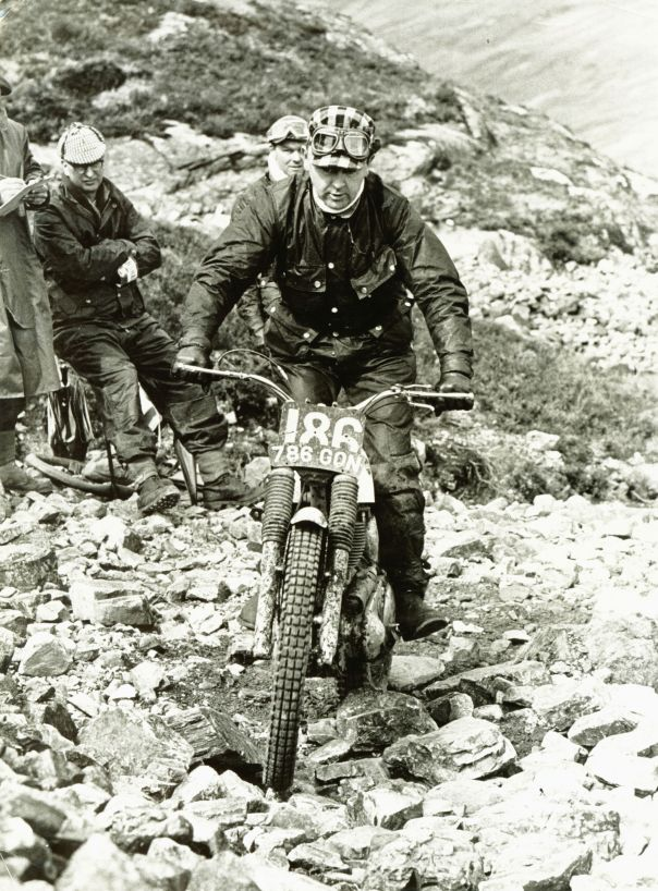 1965 Scottish Six Days on Callert, riding the ex-Sammy Miller Ariel 786GON, which Wilson owned and rode for several years. The machine is now in Italy.