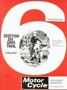 The 1967 SSDT programme cover featured the 1966 winner, Alan Lampkin on his factory BSA 748MOE