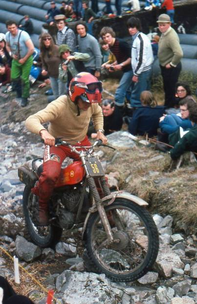 Juame Subira (349 Montesa) on Pipeline in the 1978 Scottish Six Days - Iain Lawrie, Kinlochleven.