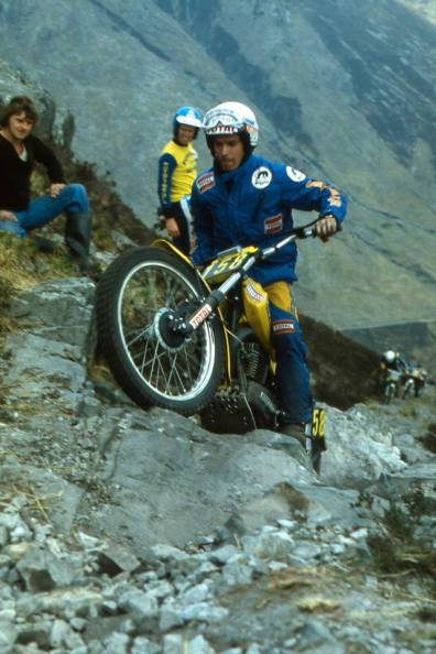 Charles Coutard (France 320 SWM) on Calliach in the 1980 Scottish Six Days - © - Iain Lawrie, Kinlochleven.