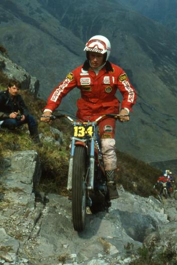 Malcolm Rathmell (349 Montesa) in the 1980 Scottish Six Days on Calliach - © – Iain Lawrie, Kinlochleven.