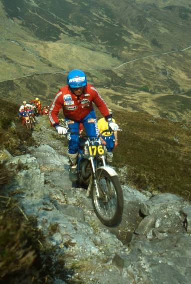 Bernie Schreiber - USA - 325 Bultaco on Calliach in the 1980 Scottish Six Days - © - Iain Lawrie, Kinlochleven.
