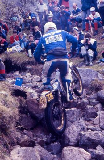 Mick Andrews (250 Honda) in the 1987 Scottish Six Days on Ben Nevis - © – Iain Lawrie, Kinlochleven.