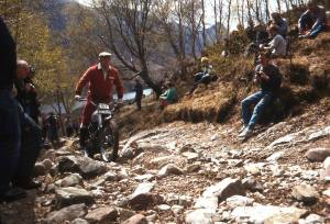 Alan's older brother, Arthur J. Lampkin, seen here in the Pre'65 Scottish on his Gold Star BSA in 1984 was a guiding influence on his younger brothers. Photo: Iain Lawrie, Kinlochleven.