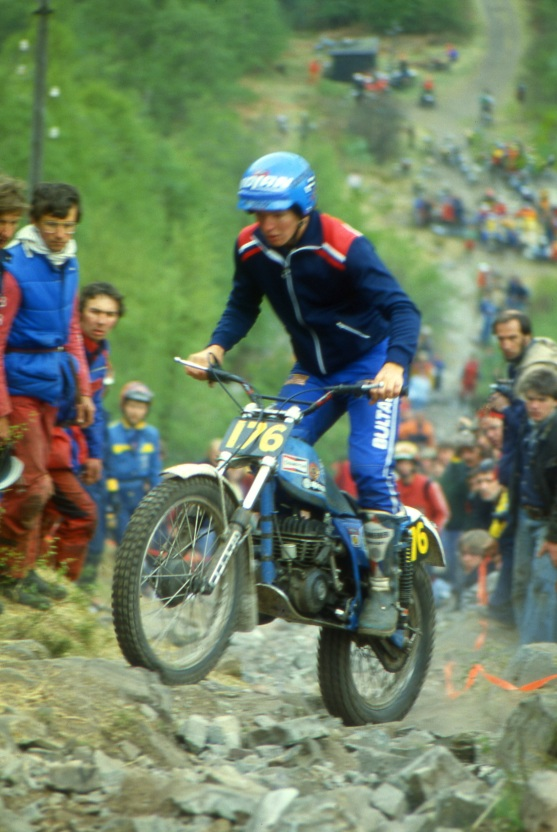 Bernie Schreiber (325 Bultaco) on Pipeline in the 1980 Scottish Six Days - © – Iain Lawrie, Kinlochleven.