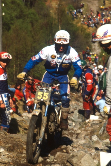 Charles Coutard (340 Bultaco) on Pipeline in the 1982 Scottish Six Days - © – Iain Lawrie, Kinlochleven.