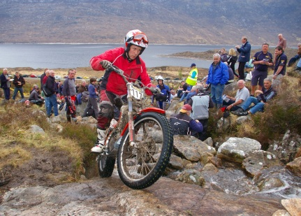 Crawford Carrick-Anderson (250 Gas Gas) on Creag Lundie in the 2008 Scottish Six Days -