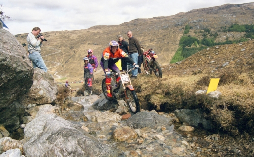 Dougie Lampkin (250 Beta) on Blackburn in the 1996 Scottish Six Days - © – Iain Lawrie, Kinlochleven.