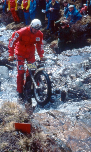 Felix Krahnstover (349 Montesa) on Altnafeadh in the 1979 Scottish Six Days - Iain Lawrie, Kinlochleven.