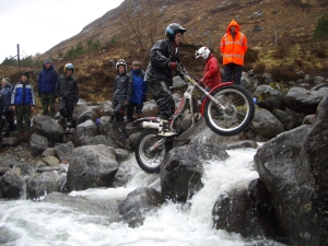 Alan's son James Lampkin seen here at Inversanda in the 2006 SSDT. Photo copyright ~ Iain Lawrie, Kinlochleven.