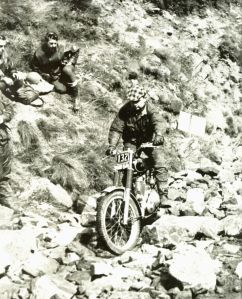 Jock Wilson - 350 AJS - SMW581 - Clayton Trial - section Cheeks - 05-08-1962 - Photo Unknown