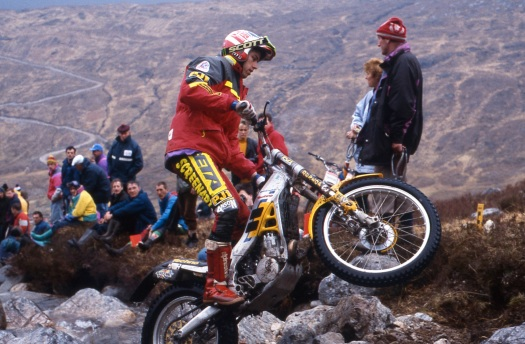 John Lampkin (250 Beta) in the 1994 Scottish Six Days - © – Iain Lawrie, Kinlochleven.