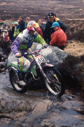 John Shirt Jnr (320 GasGas) in the 1991 Scottish Six Days - © – Iain Lawrie, Kinlochleven.