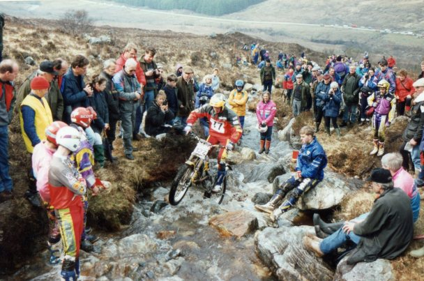 Doug Lampkin in 1994 at the Scottish Six Days at Fersit – © – Jeremy Whittet