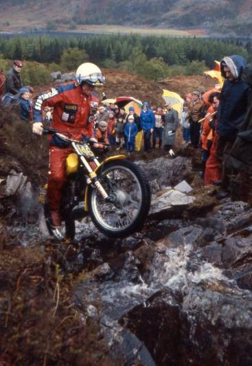 H. Martin Lampkin (SWM) on Cameron Hill in the 1982 Scottish Six Days - © – Iain Lawrie, Kinlochleven.