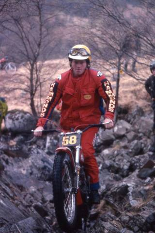 H. Martin Lampkin (325 Bultaco) on Blackwater in the 1978 Scottish Six Days - © – Iain Lawrie, Kinlochleven.