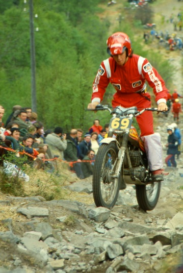 Roy Kerr (349 Montesa) on Pipeline in the 1980 Scottish Six Days - © – Iain Lawrie, Kinlochleven.