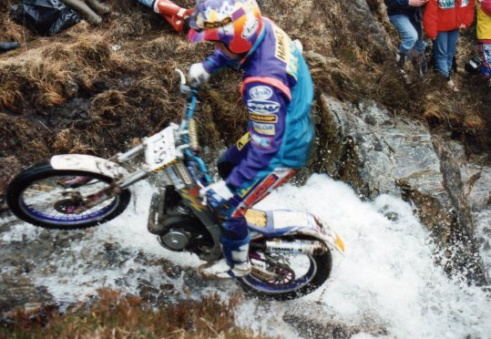 Rob Crawford (TYZ250 Yamaha) on Fersit at the 1994 Scottish Six Days Trial – © – Jeremy Whittet